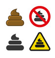 poo icon and sign set vector image vector image