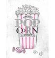Poster popcorn sweet vector image vector image