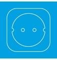 Power socket thin line icon vector image
