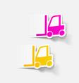 realistic design element forklift vector image vector image