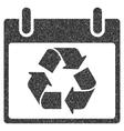 Recycle Calendar Day Grainy Texture Icon vector image vector image