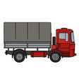 red covered truck vector image vector image