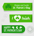 Saint Patricks day tags vector image