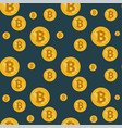 seamless bitcoin pattern vector image vector image