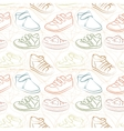 seamless set of baby shoes vector image