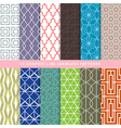 Set of graphic line seamless patterns vector image vector image