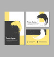 set of grunge business cards with geometric vector image