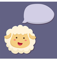 Sheep Talking Speech Bubble vector image