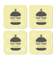 Square table coasters template with hand drawn vector image vector image