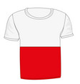 t-shirt flag indonesia vector image vector image