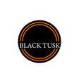 template emblem blank black tusk vector image vector image