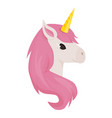 unicorn cute animal character vector image vector image