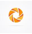 unusual orange logo in form a spiral vector image vector image