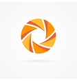Unusual orange logo in the form of a spiral vector image
