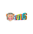 Year of the Monkey 2016 Low Polygon vector image