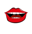 mouth pop art icon vector image