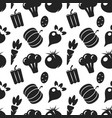 vegetable black silhouettes seamless pattern vector image