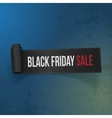 Black Friday Sale realistic Paper Ribbon vector image