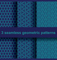 3 geometric patterns vector image vector image