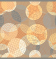 abstract circles seamless pattern layered vector image