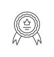 achievement line icon concept achievement vector image vector image