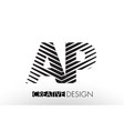 ap a p lines letter design with creative elegant vector image vector image