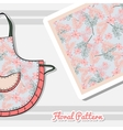 Apron With Pink Flowers vector image vector image
