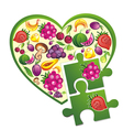 Background- fruit heart vector image vector image