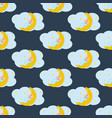 basleeping on moon seamless pattern vector image vector image