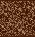 beer seamless pattern with thin line icons vector image vector image