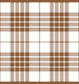beige and white tartan plaid seamless pattern vector image vector image