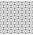 Black and white seamless pattern in arabic style vector image vector image