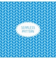 Blue geometric seamless pattern with chevron vector image
