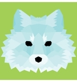Blue low poly fox vector image vector image