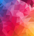 blue pink yellow spectrum polygon triangular vector image vector image