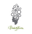 brainstorm concept hand drawn isolated vector image vector image