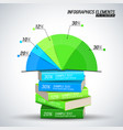 business infographics elements concept vector image vector image