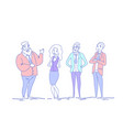 business people group standing together different vector image