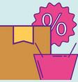buy online concept vector image vector image