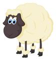 Cartoon adorable sheep vector image vector image