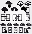 cloud app icon set vector image vector image