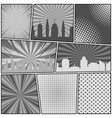 comic book page monochrome background vector image vector image