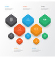 communication icons set collection of group vector image vector image