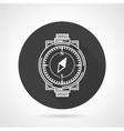 Compass black round icon vector image vector image