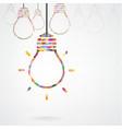 Creative light bulb Idea concept background design vector image