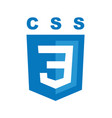 css3 emblem blue shield and white text vector image vector image