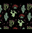 cute african cactus vector image