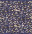 dark pattern with hand drawn orange swirls vector image vector image