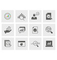 data analysis icon set isolated vector image