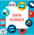 data science template vector image vector image
